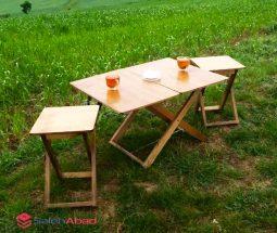 فروش عمده میز و صندلی تاشو چوبی