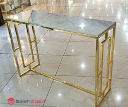 فروش عمده کنسول سنگی پایه طلایی