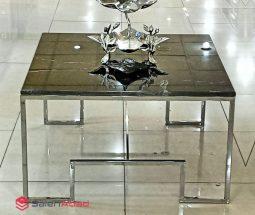 فروش عمده میز جلو مبلی سنگ و فلز مربع