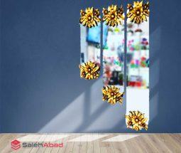 فروش عمده آینه دکوراتیو سه تکه گلدار