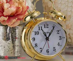 فروش عمده ساعت زنگ دار طلایی
