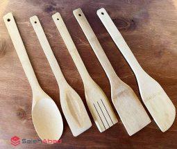 فروش عمده سرویس کفگیر چوبی