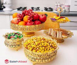فروش عمده سرویس ظروف پذیرایی طلایی