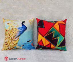فروش عمده کوسن چاپی طرح طاووس