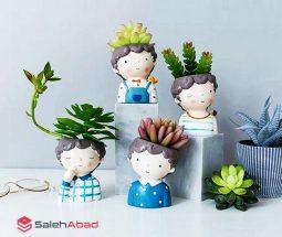 فروش عمده گلدان مجسمهای طرح پسر