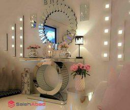 فروش عمده آینه و کنسول آینه ای گرد