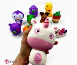 فروش عمده اسکویشی طرح حیوانات عروسکی