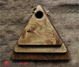 فروش عمده تخته سرو مثلثی ۳ تایی