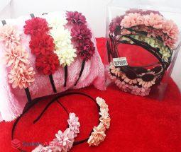 فروش عمده تل سر فلزی گلدار