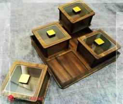 فروش عمده باکس پذیرایی چوبی ۵ تکه
