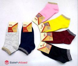فروش عمده جوراب ساق کوتاه رنگی