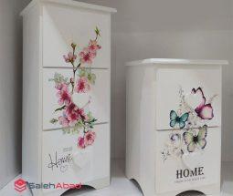 فروش عمده دراور رومیزی طرح گل و پروانه
