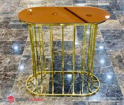 فروش عمده کنسول فلزی طلایی آینه ای