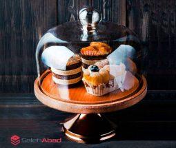فروش عمده ظرف کیک خوری چوبی پایه دار