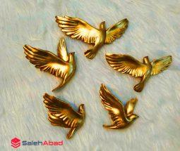 فروش عمده دیوارکوب پرستو طلایی ۵ تایی