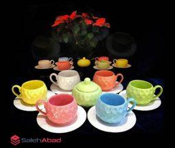 فروش عمده سرویس چای خوری سرامیکی رنگی