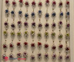 فروش عمده انگشتر نگین دار طرح گل رز