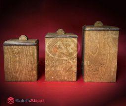 فروش عمده ست بانکه چوبی سه تایی