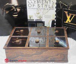 فروش عمده جعبه چوبی پذیرایی درب شیشه ای