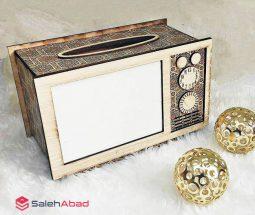 فروش عمده جعبه دستمال طرح تلویزیون