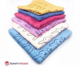 فروش عمده دستمال نمگیر رنگی مدل خرگوش