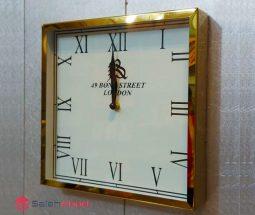 فروش عمده ساعت دیواری استیل مربع