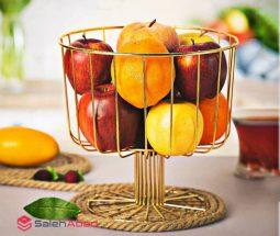 فروش عمده سبد میوه فلزی طرح جام