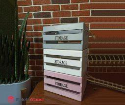 فروش عمده جعبه ارگانایزر چوبی رنگی