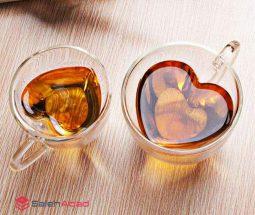 فروش عمده لیوان دوجداره طرح قلب