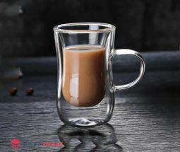 فروش عمده فنجان کمر باریک دوجداره