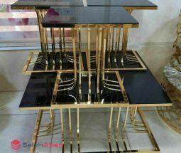 فروش عمده ست میز عسلی مربع آینه ای