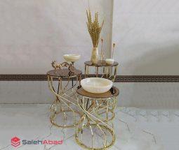 فروش عمده میز عسلی آینه ای پایه پیچ