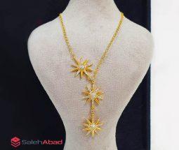 فروش عمده گردنبند طرح خورشید طلایی