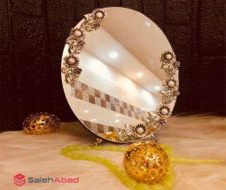 فروش عمده آینه دکوری گرد مدل رومیزی