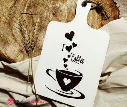 فروش عمده تخته سرو طرح فنجان قهوه