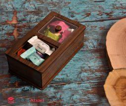 فروش عمده جعبه پذیرایی چوبی مستطیل
