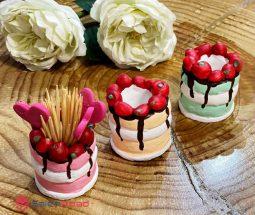 فروش عمده ظرف خلال دندان مدل کیک