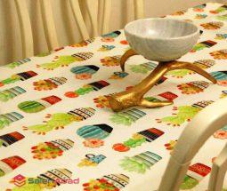 فروش عمده رومیزی پارچه ای طرح کاکتوس