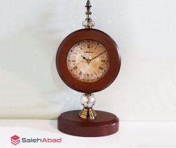 فروش عمده ساعت رومیزی پایه دار چوبی