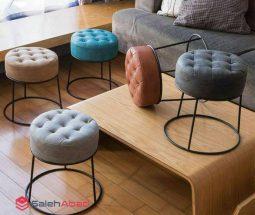 فروش عمده صندلی پاف پایه فلزی