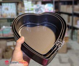 فروش عمده قالب کیک کمربندی قلبی ۳ سایز