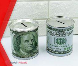 فروش عمده قلک فلزی طرح دلار