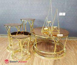 فروش عمده ست میز عسلی و جلو مبلی آینه ای