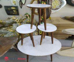 فروش عمده میز عسلی و جلو مبلی چوبی