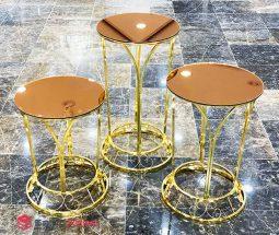 فروش عمده میز عسلی آینه ای مدل تاج
