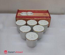 فروش عمده نمکدان چینی مقصود لب طلا
