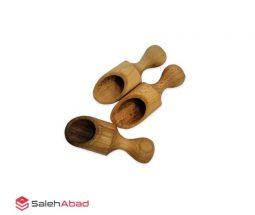 فروش عمده قاشق پیمانه چوبی ۳ عددی