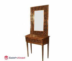 فروش عمده آینه کنسول چوبی سنتی