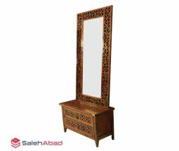 فروش عمده آینه و کنسول کشودار چوبی