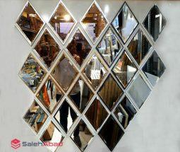 فروش عمده آینه دکوراتیو طرح لوزی